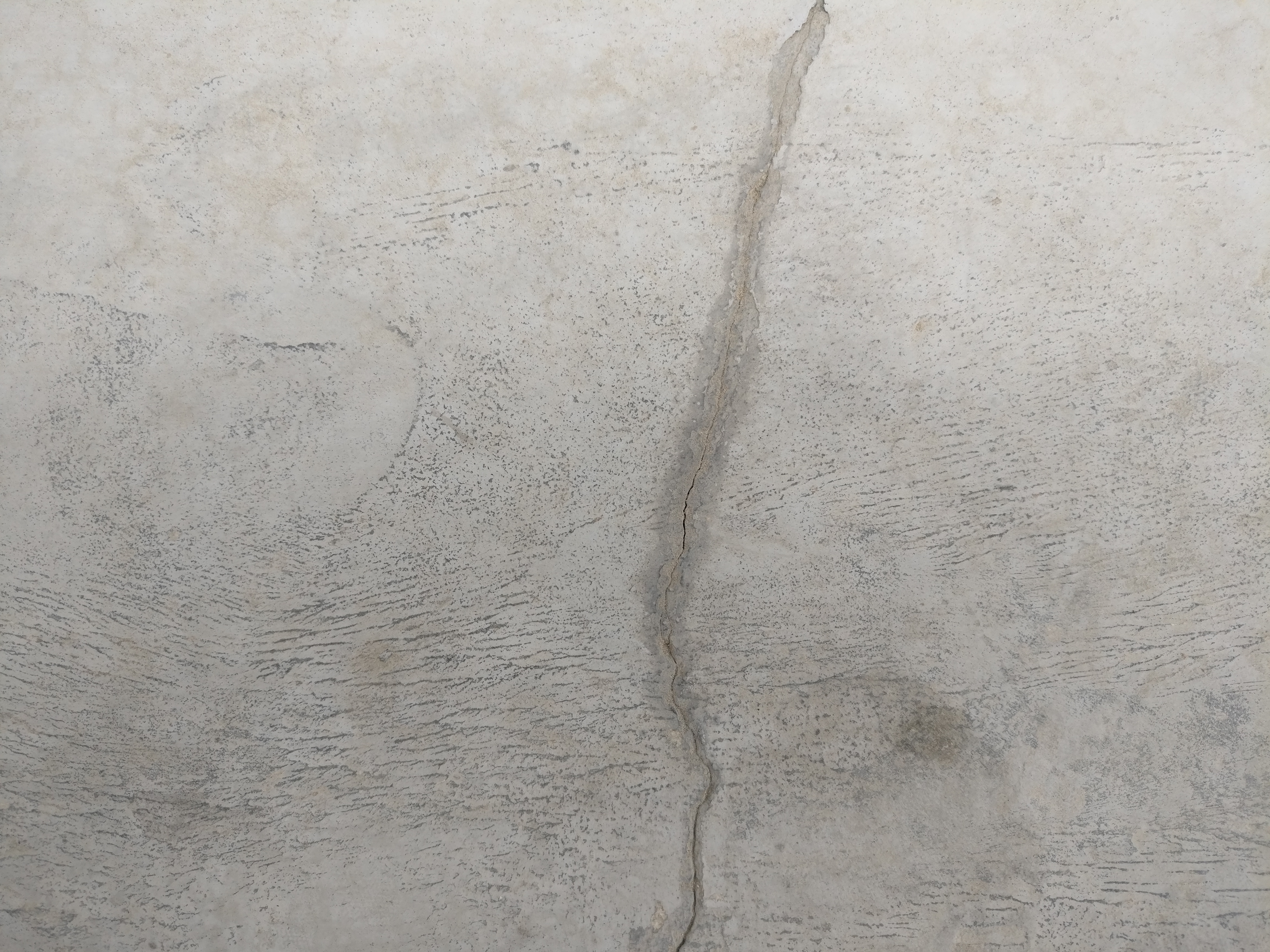 A Settlement crack after repair