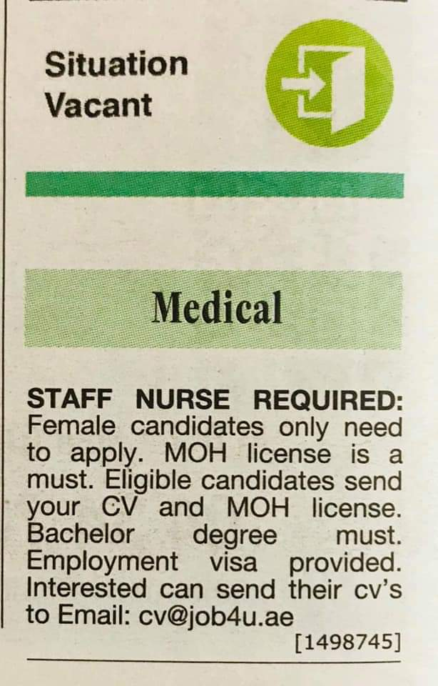 Moh Oman Vacancies